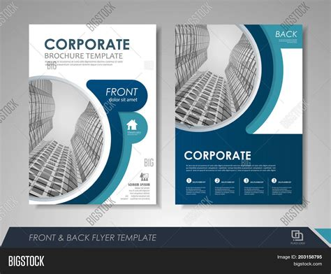 Modern Blue Brochure Vector Photo Free Trial Bigstock Create Page Template