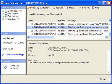 log file reader windows sql server 2005 log file viewer