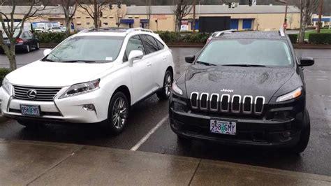 lexus jeep 2014 review 2014 lexus rx350 vs 2014 jeep