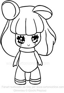 coloring pic dormilla of the glimmies coloring page