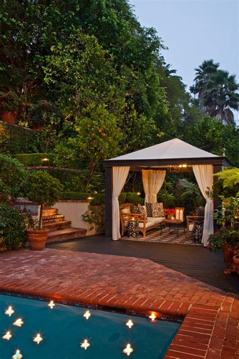 16 Opulent Transitional Patio Designs For The Spring And Backyard Cabana Ideas
