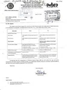 letter of application sle application letter for deped