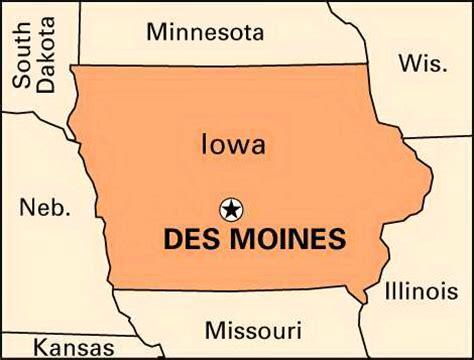 map of des moines des moines location encyclopedia children s