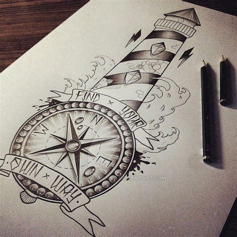 compass lighthouse tattoo lighthouse compass by edwardmiller on deviantart