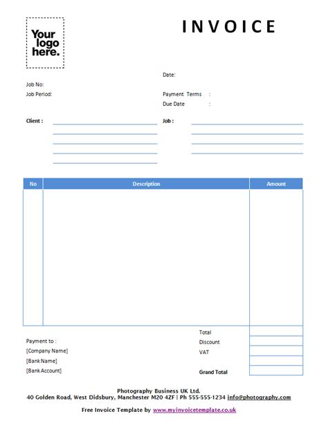 free uk invoice template word uk invoice templates free invoice template