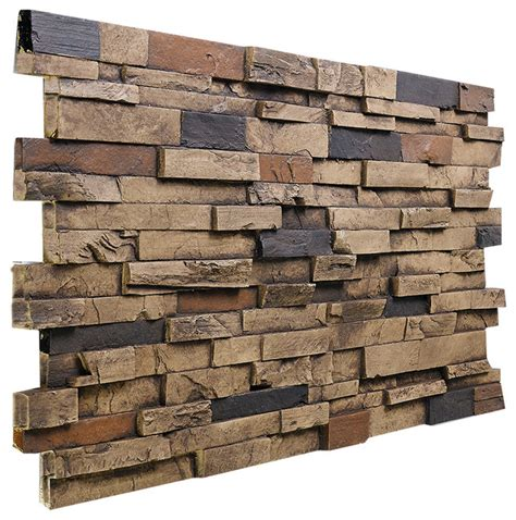 deep slate stacked wall panel almond traditional siding and stone veneer by buy faux stone