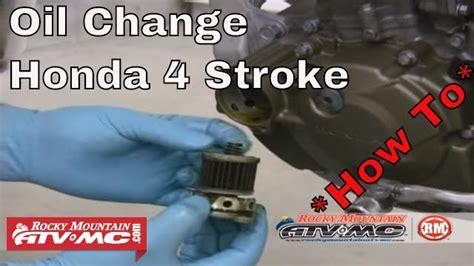 honda change how to change on a honda 4 stroke motorcycle
