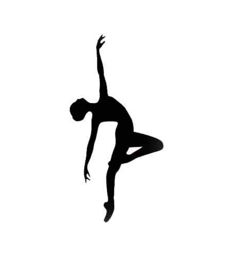 Dancer Outline by Tiny Dancer Die Cuts Black Silhouette Set Of 6 Passe Ballet Ballerina Jazz