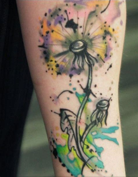 watercolor tattoo dandelion 25 best ideas about dandelion design on