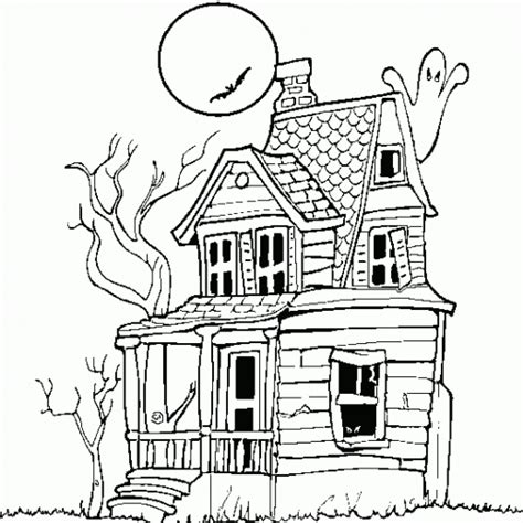 coloring pages haunted house halloween haunted house printable halloween coloring pages free
