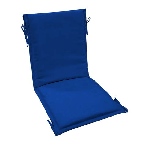 Blue Sling Patio Chair Shop Arden Outdoor Pacific Blue Sling Chair Cushion At Lowes