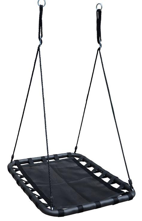 black swing 100cm black rectangle mat nest swing heavenly hammocks