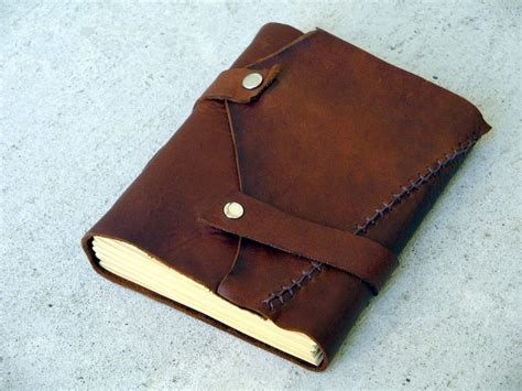 How To Make A Handmade Leather Journal - leather journal 183 how to make a leather journal