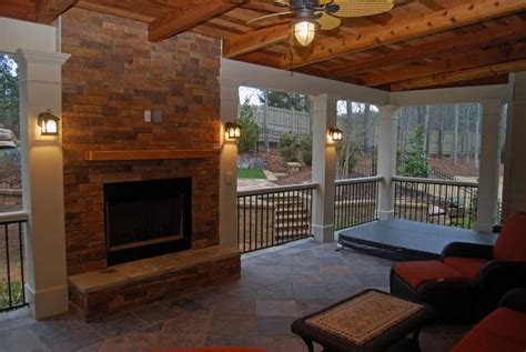 Porch Fireplace by Porches Atlanta Screened Porches Atlanta Screened In
