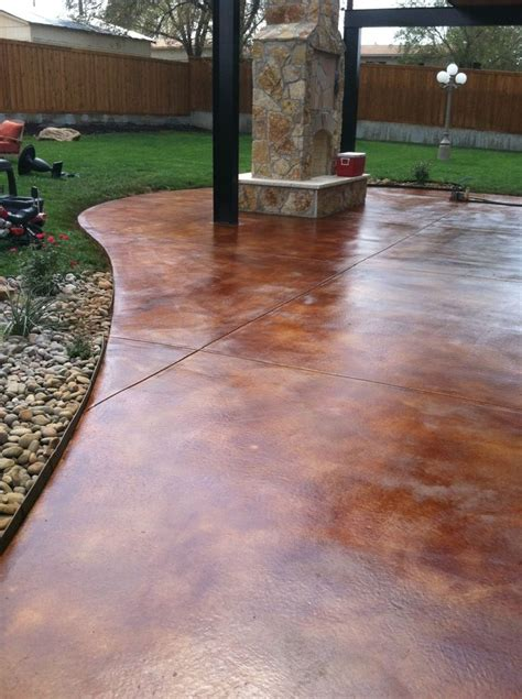 Stained Concrete Patio Pictures - 1000 ideas about stained concrete porch on