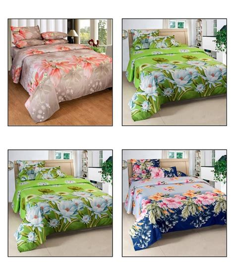 what to look for in bed sheets vertex good looking multicolour 3d floral double bed