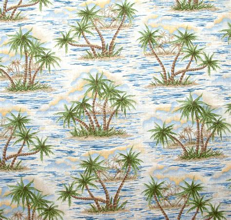 hawaiian print upholstery fabric vintage hawaiian print fabric remnant