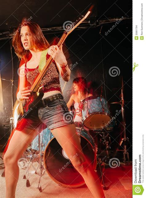 Band Guitarist guitarist and drummer stock images image 35861794