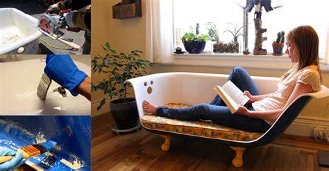clawfoot tub couch how to make clawfoot bathtub couch diy crafts handimania