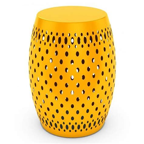 Yellow Metal Garden Stool by Dar Metal Garden Stool 70 Liked On Polyvore Featuring