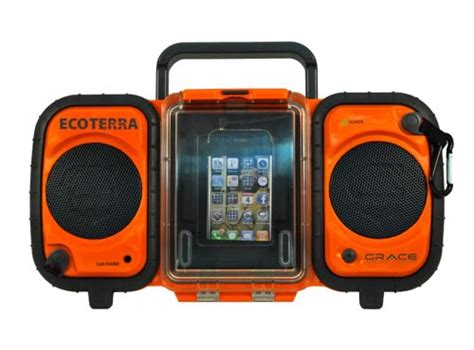 Rugged Boombox grace digital eco terra rugged and waterproof boombox gadgetsin