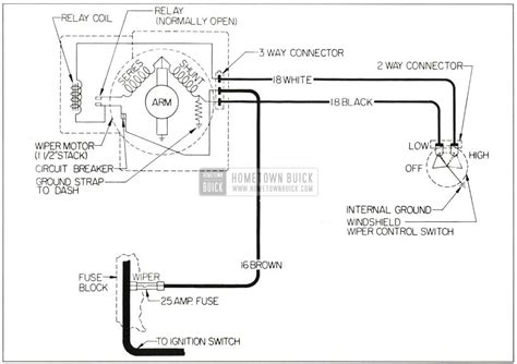 1956 buick wiper motor wiring diagrams wiring diagrams