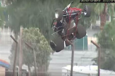 sprint car flip   fence     track