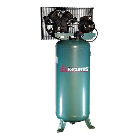 fs curtis 60 gal 5 hp electric 230 volt 1 phase air compressor fct05c30v6x a2x1xx the home depot
