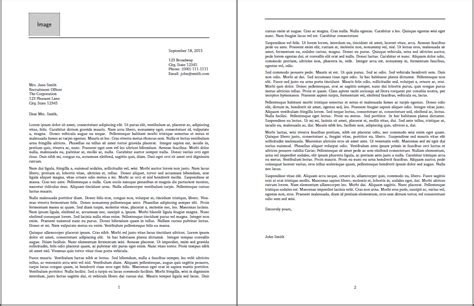 removing horizontal lines and adding page number to cover letter template tex stack
