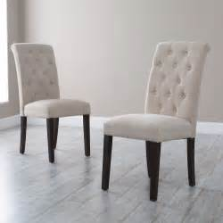 morgana tufted parsons dining chair set of 2 dining