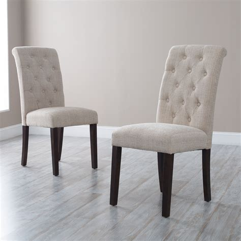 Tufted Dining Room Chairs Morgana Tufted Parsons Dining Chair Set Of 2 Dining Chairs At Hayneedle