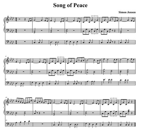 a song song of peace