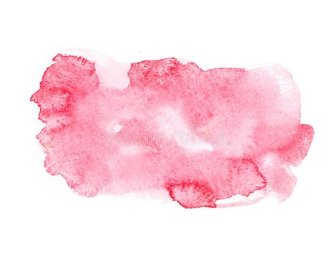 Red Colorful Abstract Hand Draw Watercolour Stock Photo