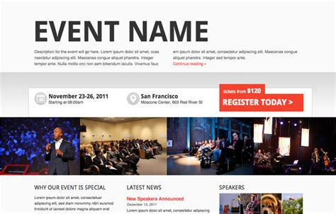 seminar themes exles wordpress conference and event themes shop showthemes