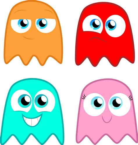 ghosts on pacman clip art library
