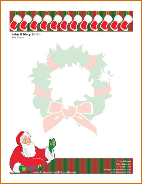 free santa letterhead template 12 free templates for word