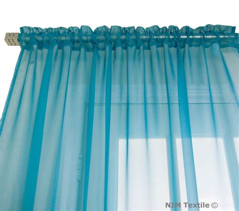 Turquoise Linen Curtains Turquoise Sheer Voile Curtains
