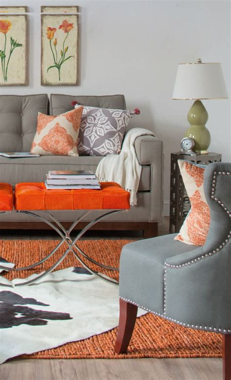 Orange Grey Living Room by Best 25 Orange Grey Ideas On 1st Birthdays