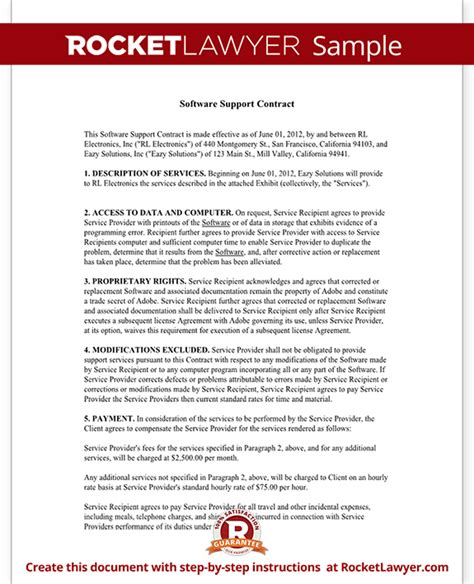 Software Maintenance Agreement Template software maintenance agreement template with sle