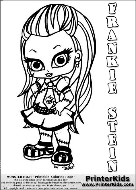 monster high frankie stein baby chibi cute coloring