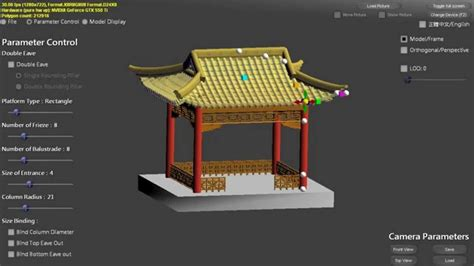 chinese featured architecture modeling gable  hip