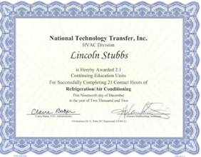 Hvac Certification Letter do you know the difference between hvac certificate and