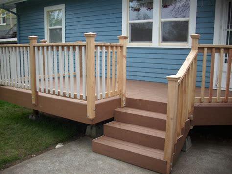 Pvc Handrail Systems Timbertech Xlm Desert Bronze Deck With Cedar Hand Rail