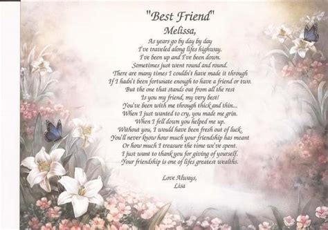 the best christmas gift poem quot best friend quot personalized poem gift for any occasion birthday ebay