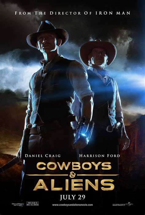 film cowboy and alien cowboys aliens poster warrior poster collider