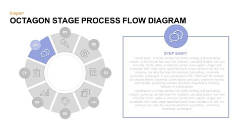 Octagon Stage Process Flow Powerpoint And Keynote Template Process Flow Diagram Powerpoint
