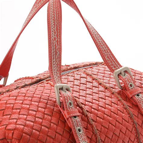 Bottega Venetta Cevro Oranye bottega veneta cervo intrecciato satchel orange 263899