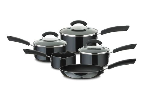 amazon skillet prestige aluminium cookware set 5 piece black amazon