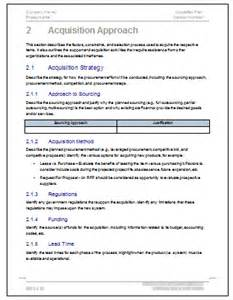 acquisition template acquisition plan templates ms word excel