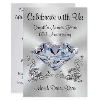 60th wedding anniversary invitations announcements zazzle canada